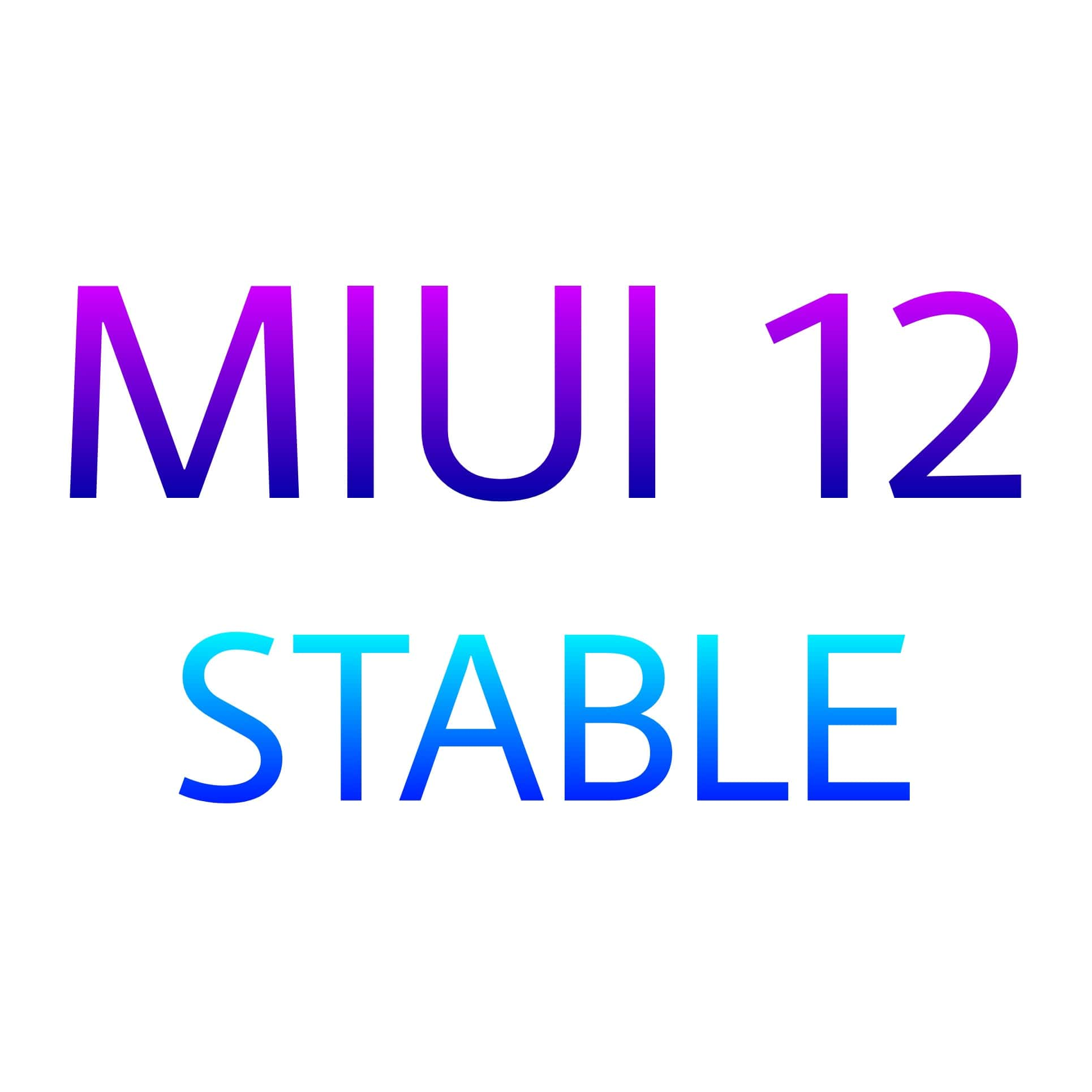 MIUI 12 STABLE